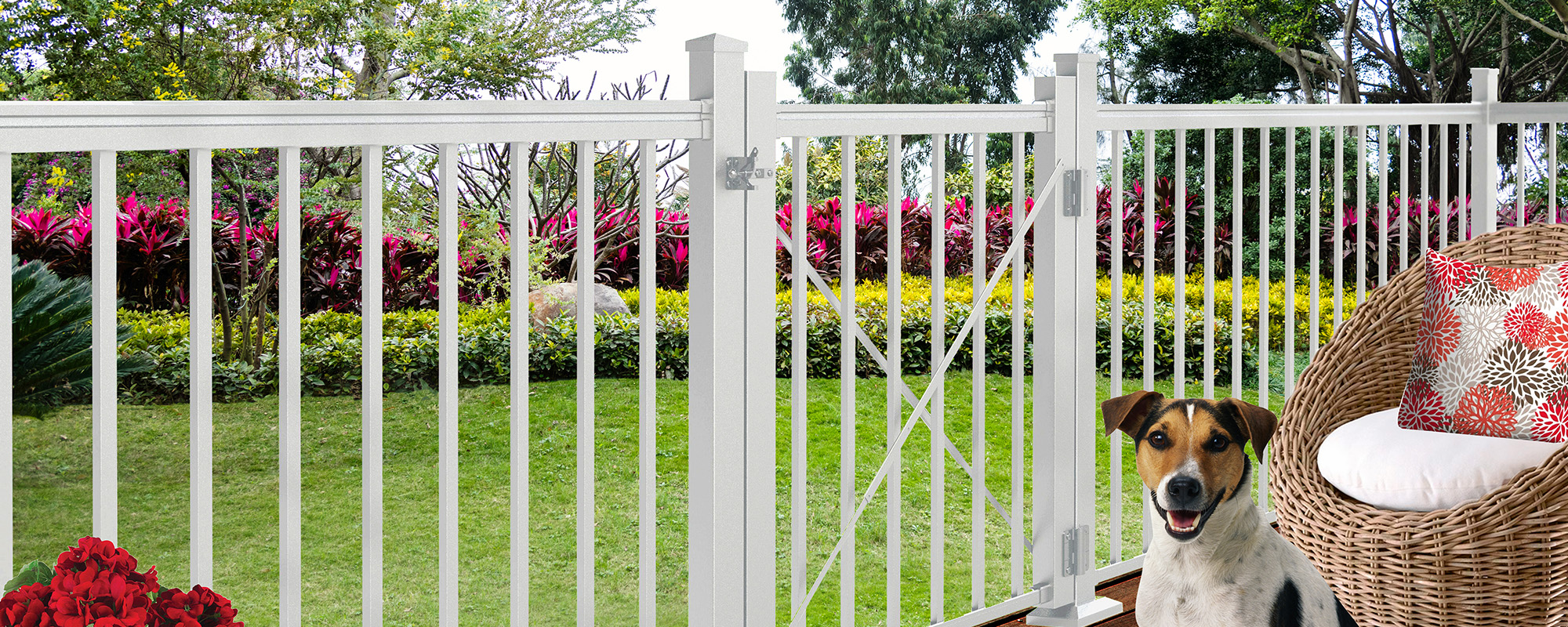 Alumi-Guard Gate Kit White