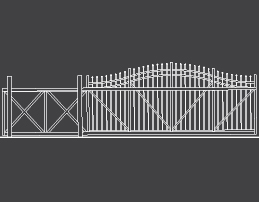 fence-outline-Cantilever-Arch